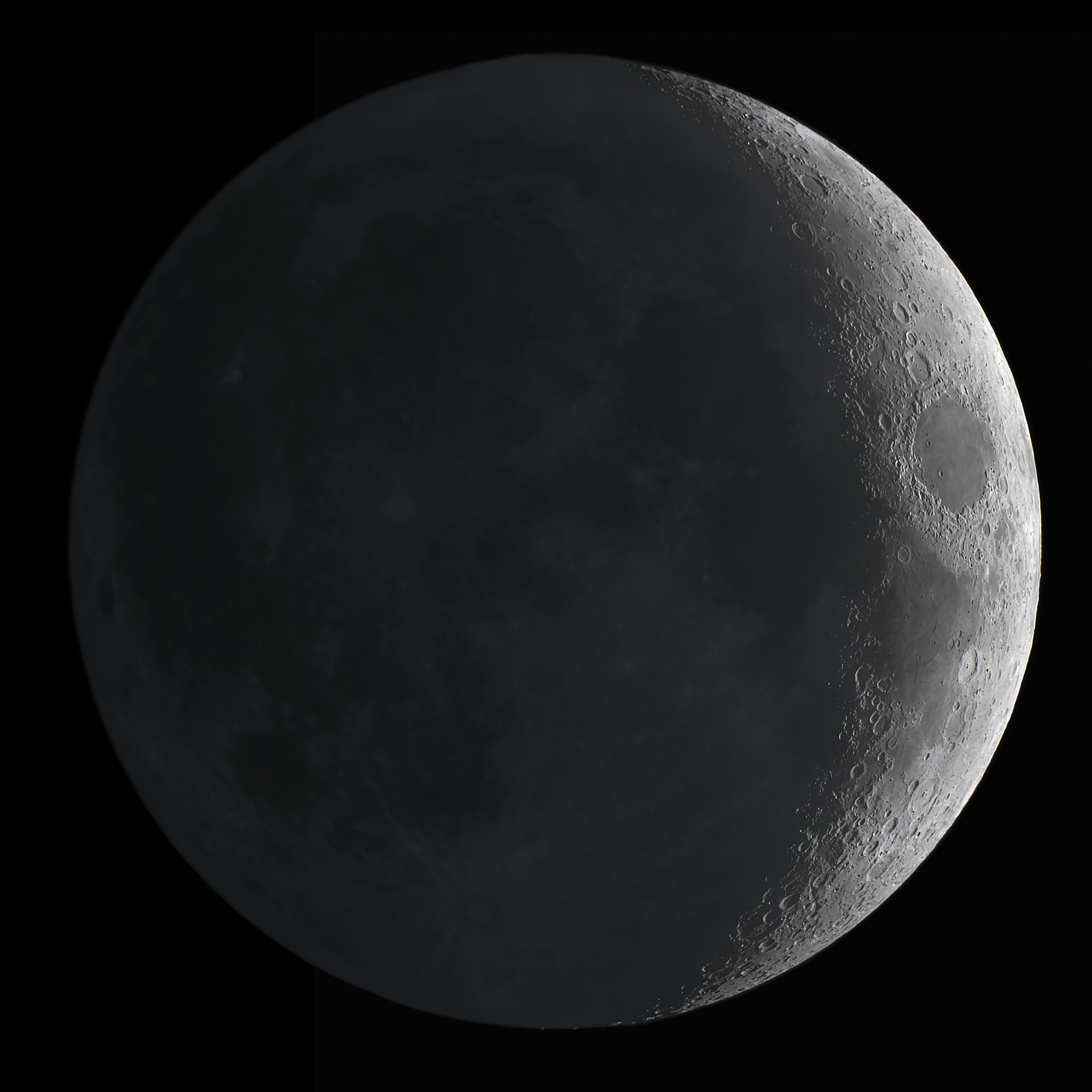 April Fools' eve Moon with earthshine