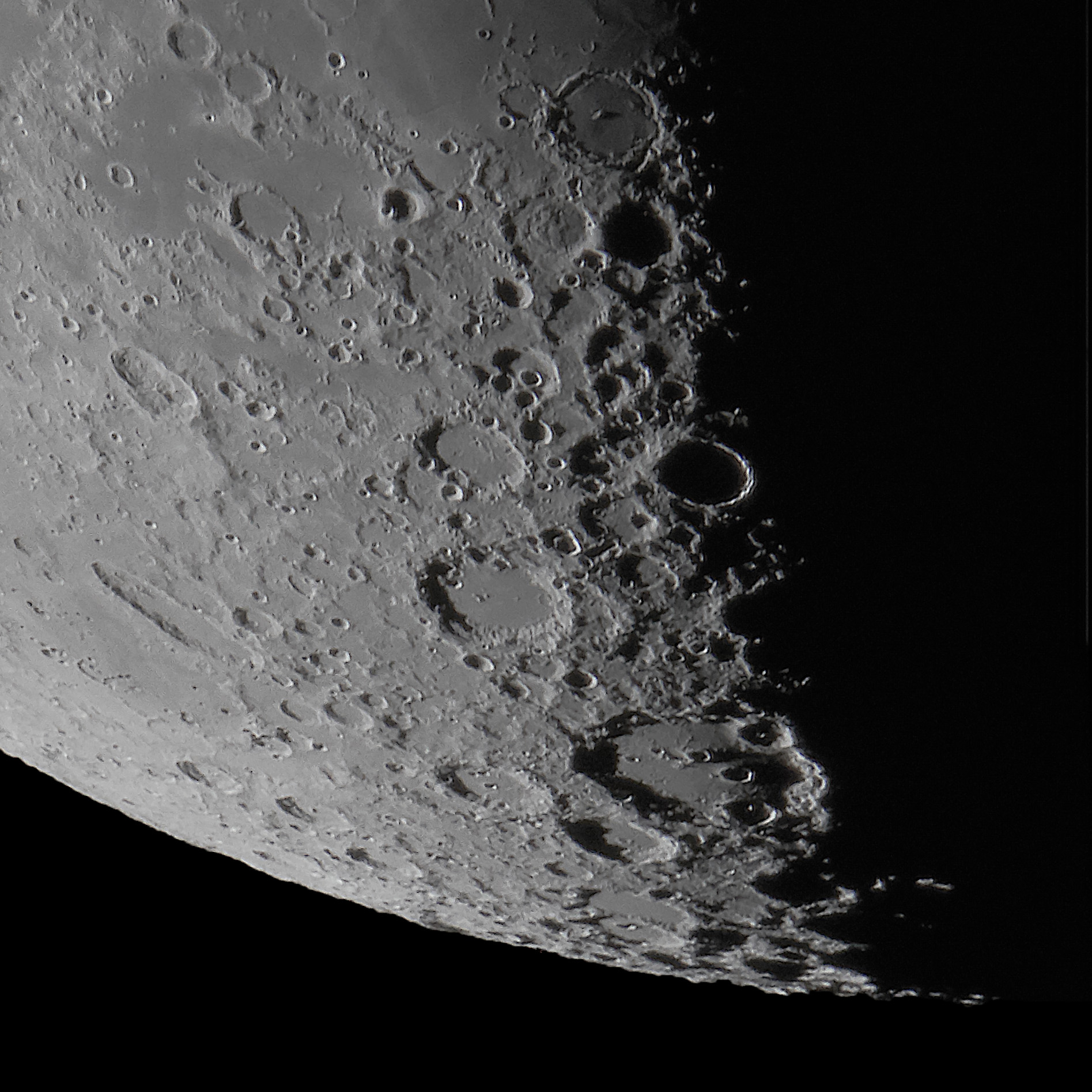 Clavius and the Southern Highlands of the Moon