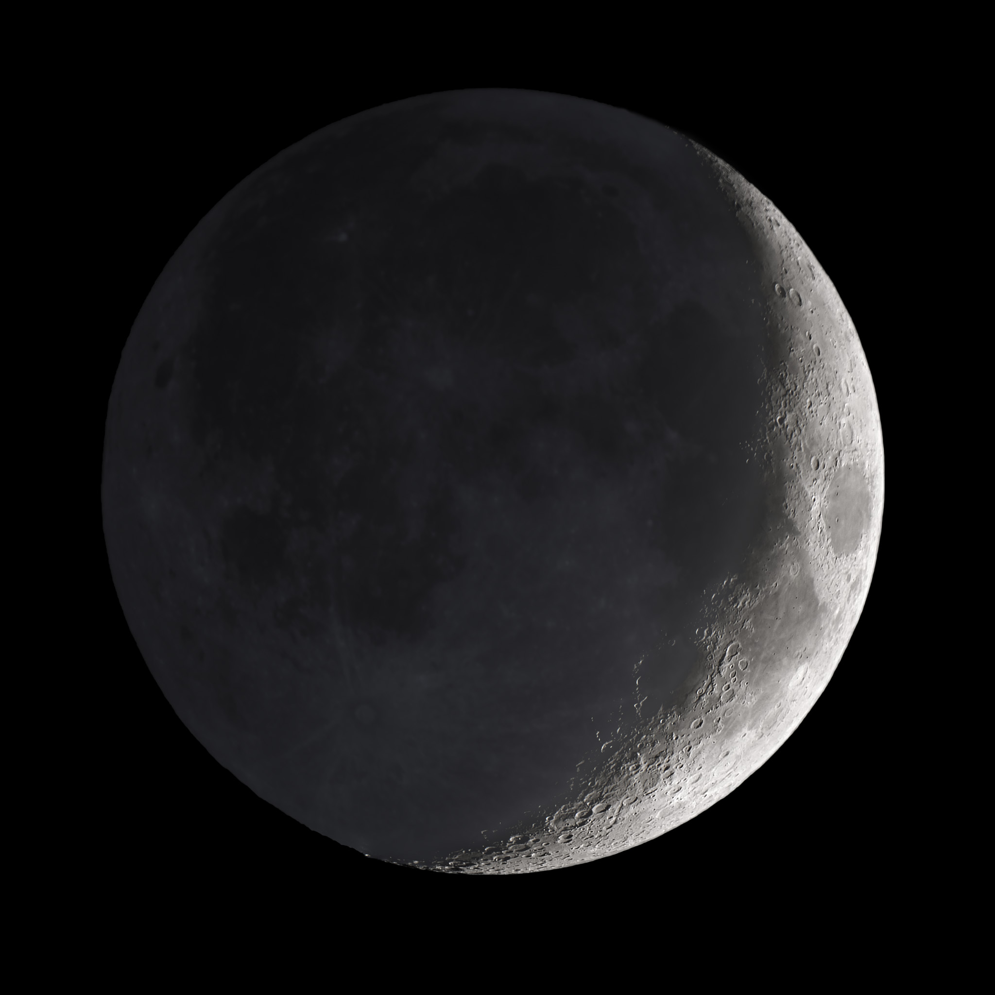 Earthshine Crescent Moon