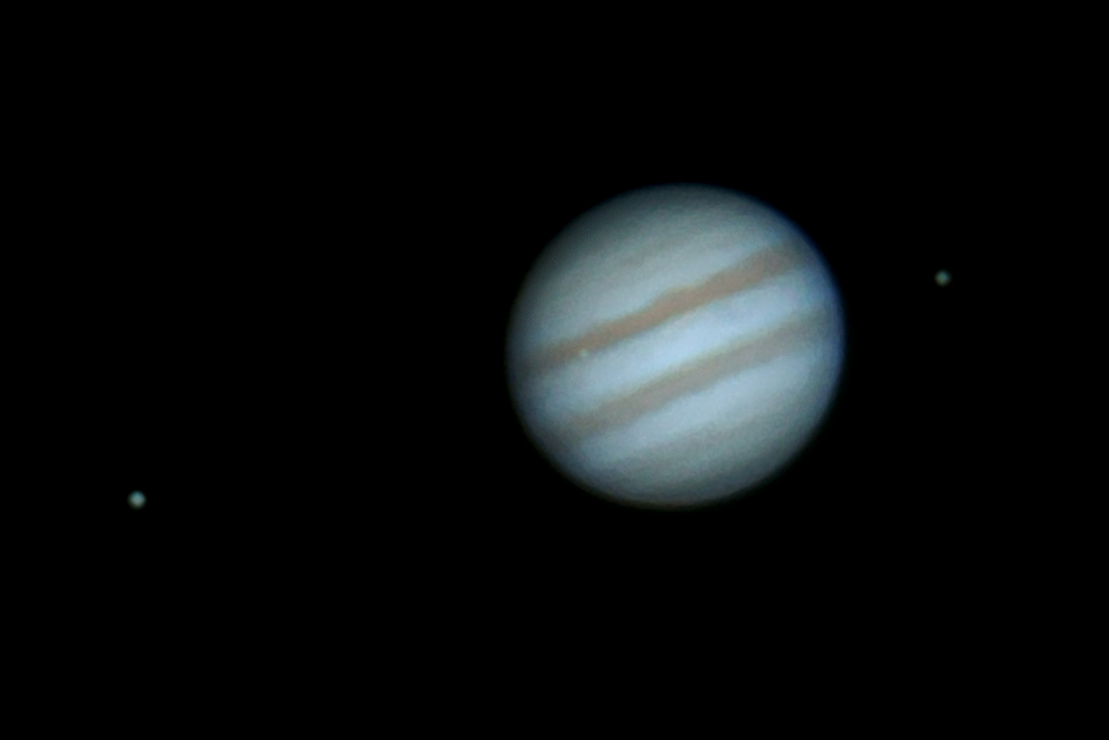 Jupiter with Ganymede Io(transiting) & Europa @ not so bad