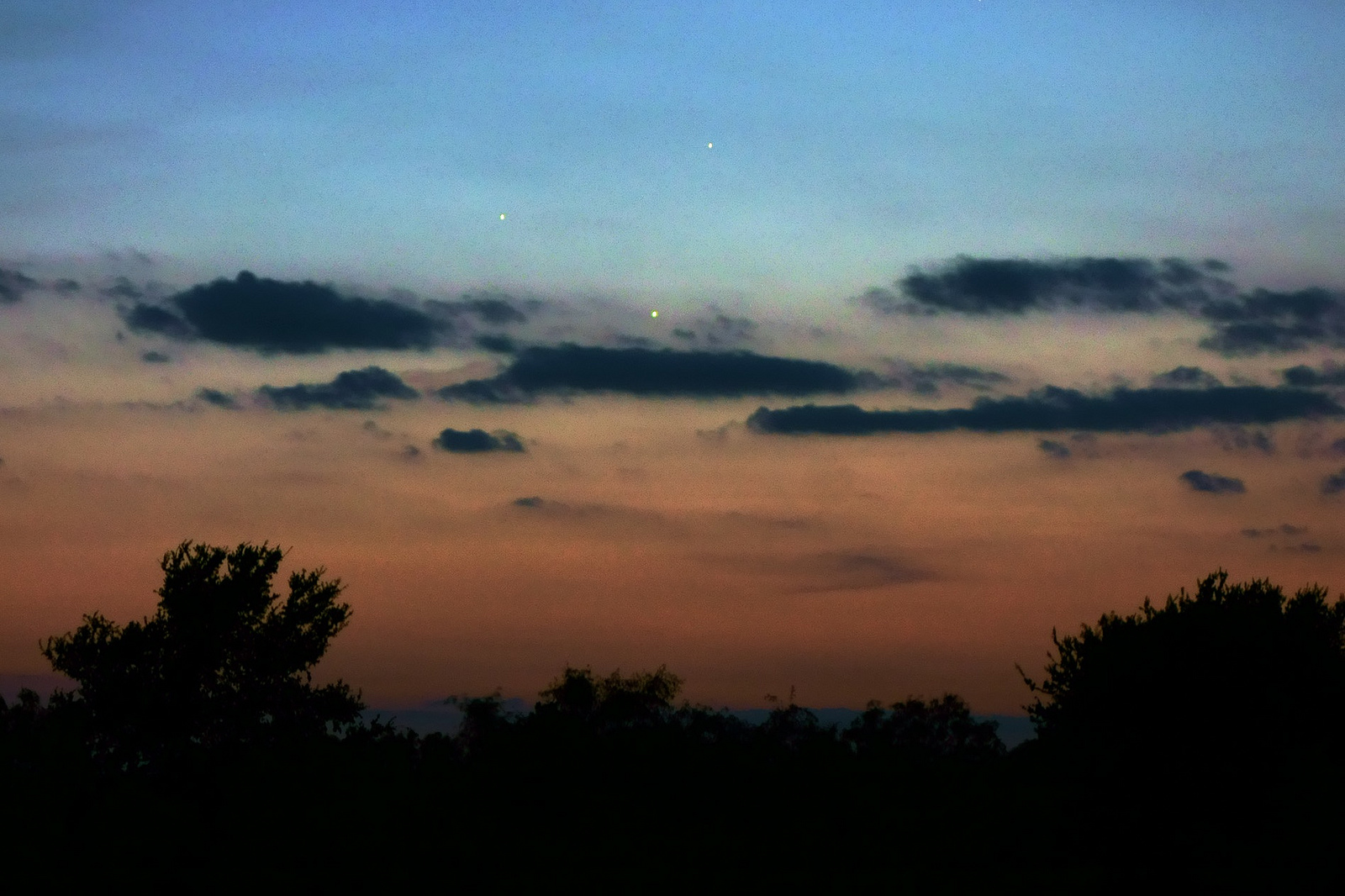 Conjunction of Jupiter, Venus, & Mercury