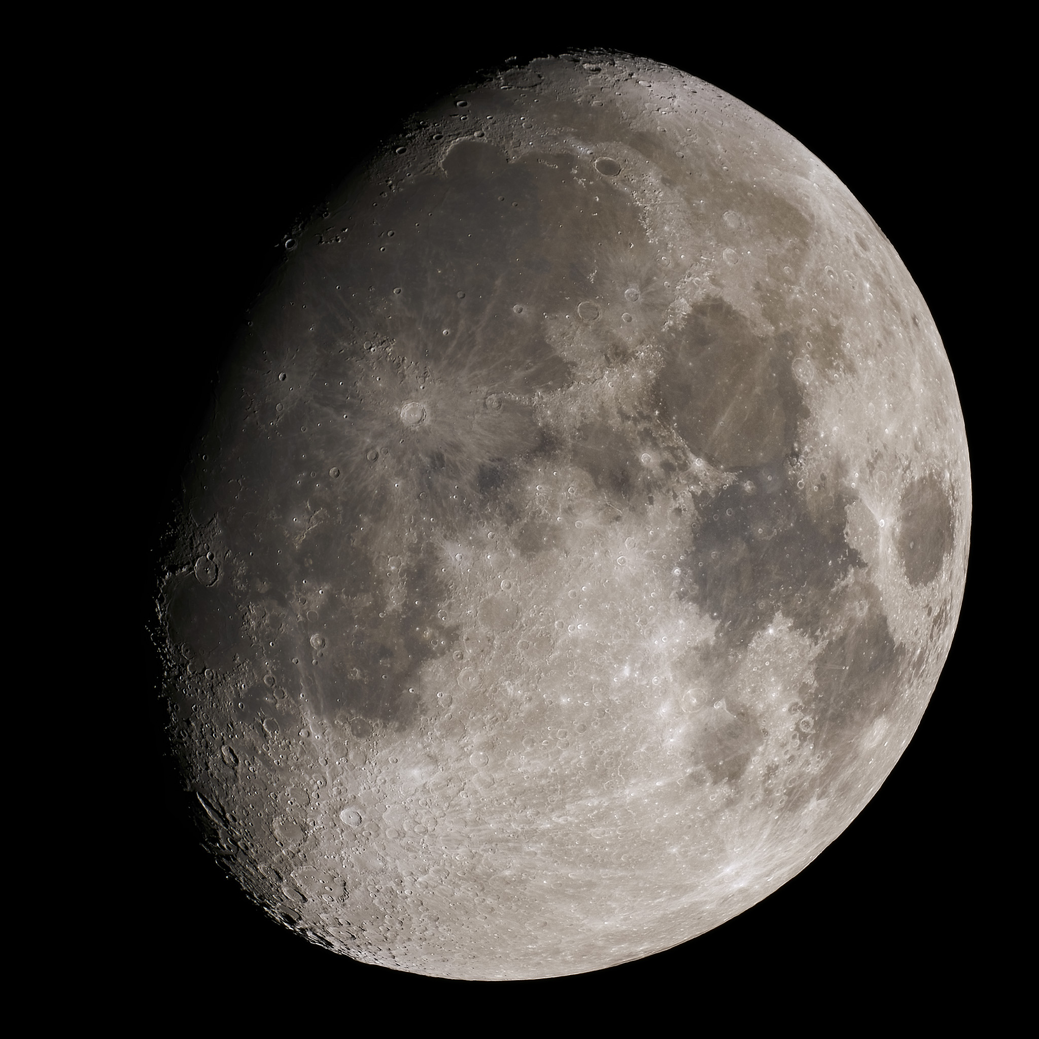 Waxing November gibbous Moon