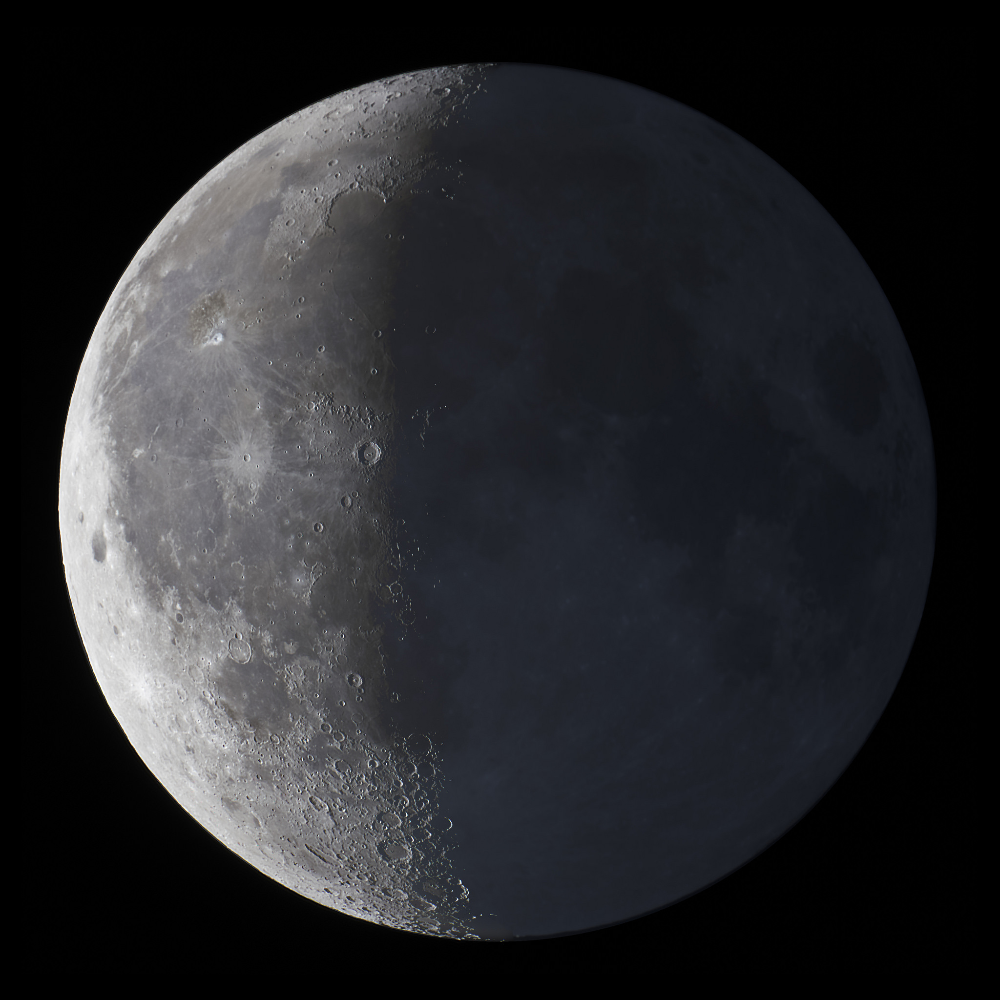 23 Waning Crescent Moon with Earthshine