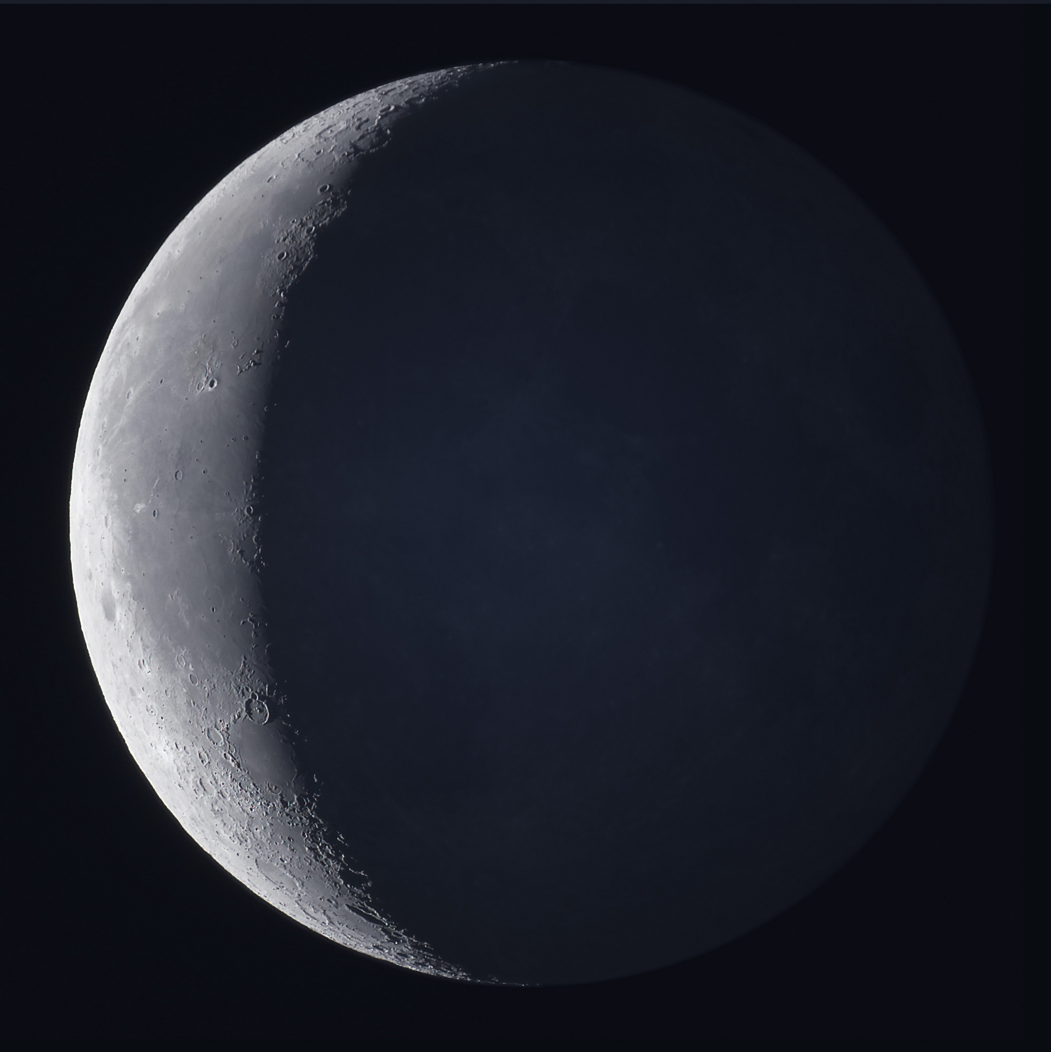 25 Moon Waning Crescent with Earthshine