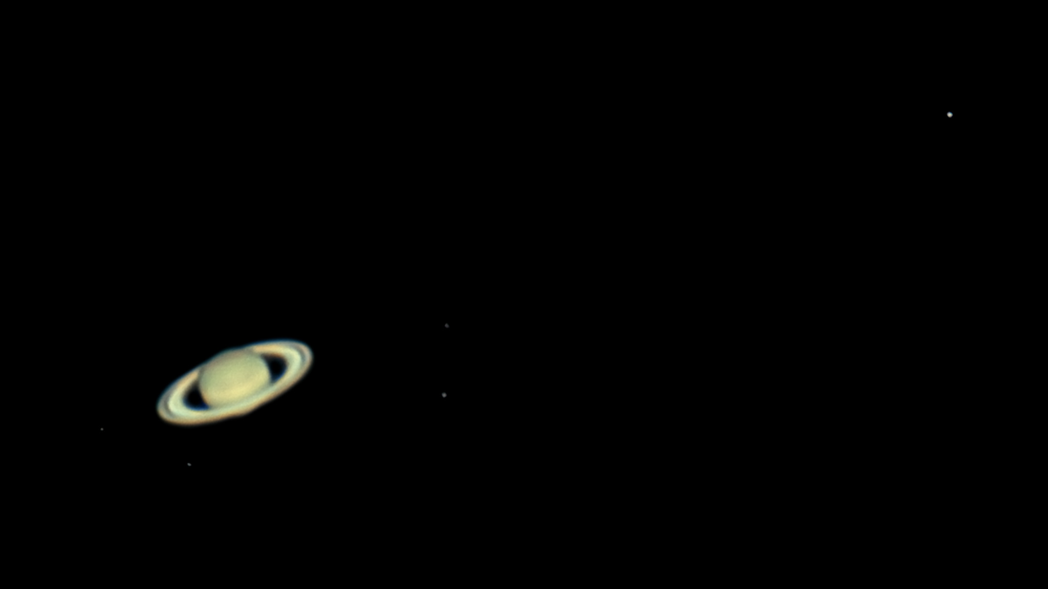 Saturn With Five Moons 2016 06 18 Not So Bad