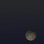 Mercury & the Moon with Earthshine
