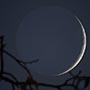 December Solstice Crescent Moon with Earthshine