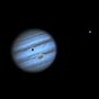 Jupiter with Ganymede and its shadow