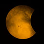 29 Moon during partial eclipse of the Sun 141023