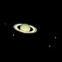 Saturn with five moons